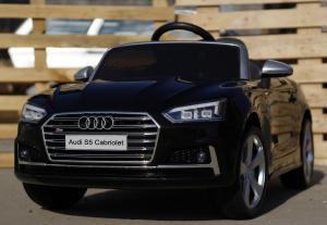 Masinuta electrica Audi S5 Cabriolet 2x35W CU ROTI MOI 12V #Negru2