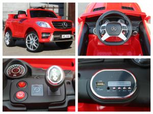 Masinuta electrica Mercedes ML350 2x25W STANDARD 12V #Rosu7