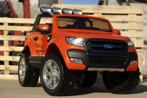 Masinuta electrica Ford Ranger 4x4 cu ROTI MOI 4x45W #Portocaliu1
