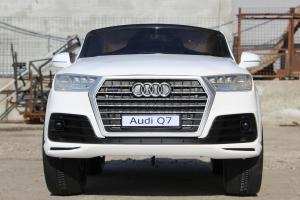 Masinuta electrica Audi Q7 2x35W 12V, Scaun tapitat #ALB1