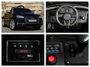 Masinuta electrica Audi S5 Cabriolet 2x35W CU ROTI MOI 12V #Negru6