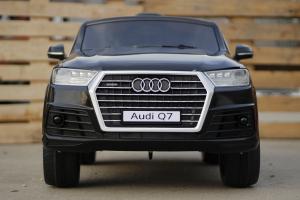 Masinuta electrica Audi Q7 2x35W 12V, Scaun tapitat #Negru1