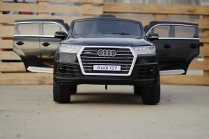 Masinuta electrica Audi Q7 2x35W 12V, Scaun tapitat #Negru2