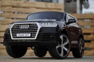 Masinuta electrica Audi Q7 2x35W 12V, Scaun tapitat #Negru4