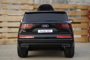 Masinuta electrica Audi Q7 2x35W 12V, Scaun tapitat #Negru6