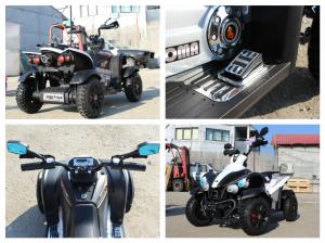 ATV Electrica pentru copii Dooma EVA - Quad 2x 45W 12V #Alb7