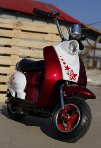 Scuter electric pentru copii NITRO ECO Retro 350W 24V 6.5 inch #Rosu3