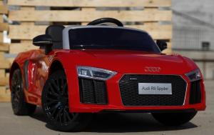 Masinuta electrica Audi R8 Spyder 2x35W 12V PREMIUM #Rosu2