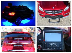 Masinuta electrica Mercedes GL63 DELUXE #Rosu8