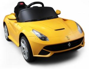 Masinuta electrica Ferrari F12 galben, 25W, pentru copii [1]