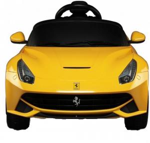 Masinuta electrica Ferrari F12 galben, 25W, pentru copii [3]