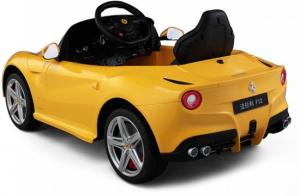 Masinuta electrica Ferrari F12 galben, 25W, pentru copii [2]