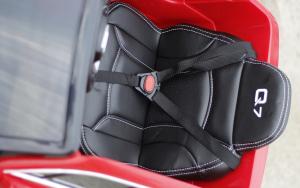 Masinuta electrica Audi Q7 2x35W 12V, Scaun tapitat #ROSU7