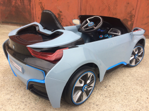 Masinuta electrica copii 2-7 ani BMW i8, albastru [3]