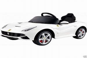Masinuta electrica Ferrari F12 1x 25W STANDARD 12V #Alb0