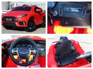 Masinuta electrica Ford Focus RS CU ROTI MOI #Rosu7