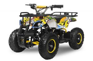 Mini ATV electric pentru copii NITRO Torino Quad 1000W 48V #Galben0