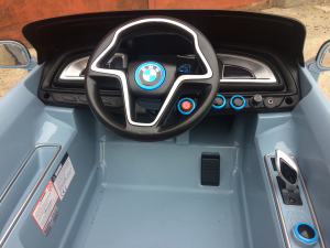 Masinuta electrica copii 2-7 ani BMW i8, albastru [5]