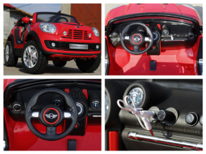 Kinderauto Mini Comberman STANDARD cu 2 locuri #Rosu7