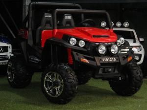 UTV electric pentru copii Golf-Kart 4x4 180W  PREMIUM #Rosu1