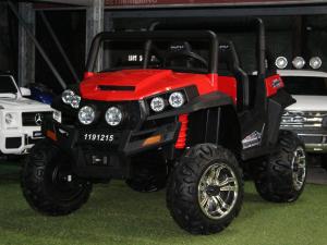 UTV electric pentru copii Golf-Kart 4x4 180W  PREMIUM #Rosu2