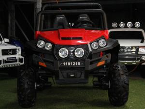 UTV electric pentru copii Golf-Kart 4x4 180W  PREMIUM #Rosu3