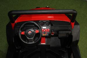 UTV electric pentru copii Golf-Kart 4x4 180W  PREMIUM #Rosu5