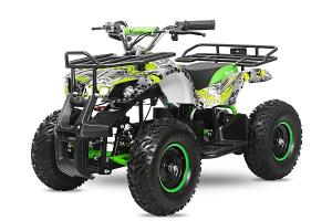 Mini ATV electric pentru copii NITRO Torino Quad 1000W 48V #Verde0
