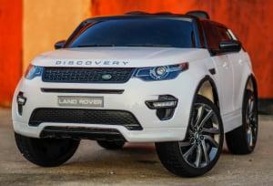 Masinuta electrica Land Rover Discovery DELUXE cu Touchscreen Mp4 #ALB2