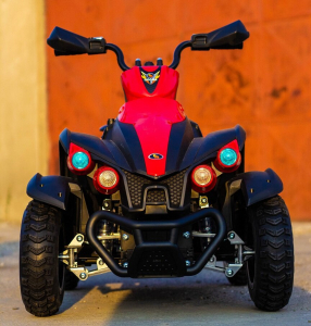 ATV EVA - Quad electric pentru copii 2x 45W 12V #Rosu1