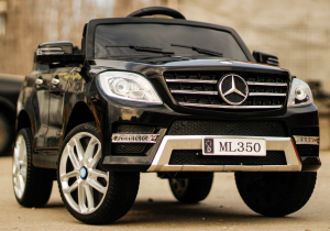 Masinuta electrica Mercedes ML350 2x25W STANDARD 12V #Negru1