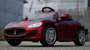 Masinuta electrica Maserati Kids CU ROTI MOI 2x 35W 12V #Rosu3