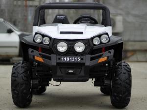 UTV electric pentru copii Golf-Kart 4x45W 2x12V PREMIUM #ALB1