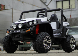 UTV electric pentru copii Golf-Kart 4x45W 2x12V PREMIUM #ALB3