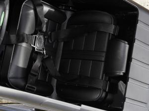 Masinuta electrica Land Rover Defender 2x35W 12V cu ROTI MOI #Negru5