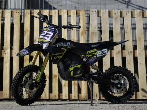 Motocicleta electrica Eco Tiger 1000W 36V 12/10 #Albastru4