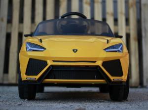 Masinuta electrica Lamborghini Urus CU SCAUN TAPITAT 12V #Galben1