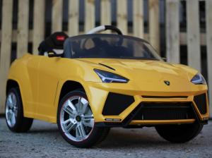 Masinuta electrica Lamborghini Urus CU SCAUN TAPITAT 12V #Galben2