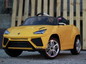 Masinuta electrica Lamborghini Urus CU SCAUN TAPITAT 12V #Galben3