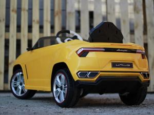 Masinuta electrica Lamborghini Urus CU SCAUN TAPITAT 12V #Galben5