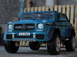 Masinuta electrica Mercedes G650 180W MAYBACH DELUXE #Albastru2