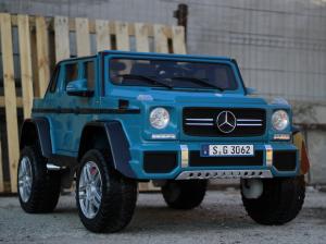 Masinuta electrica Mercedes G650 180W MAYBACH DELUXE #Albastru3