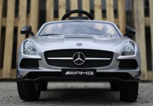 Masinuta electrica Mercedes SLS AMG PREMIUM #Silver1
