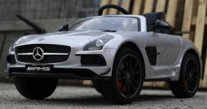 Masinuta electrica Mercedes SLS AMG PREMIUM #Silver2