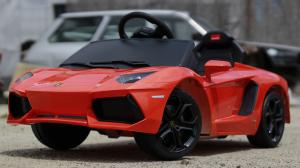 Masinuta electrica Lamborghini Aventador LP 700-4 STANDARD #Portocaliu1