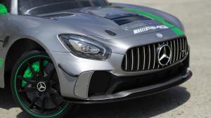 Masinuta electrica copii 2-5 ani Mercedes GT-R gri [6]