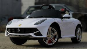 Masinuta electrica Ferrari F12 1x 25W STANDARD 12V #Alb2