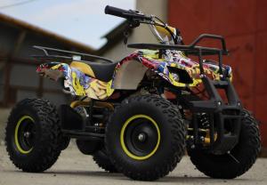 Mini ATV electric pentru copii NITRO Torino Quad 1000W 48V #Galben2