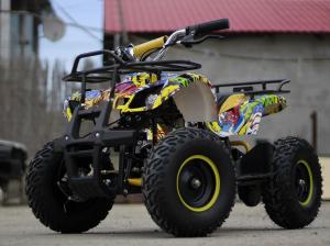 Mini ATV electric pentru copii NITRO Torino Quad 1000W 48V #Galben3