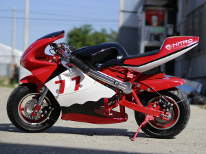 Mini Motocicleta electrica pentru copii NITRO Eco Pocket Bike 1000W #Rosu2